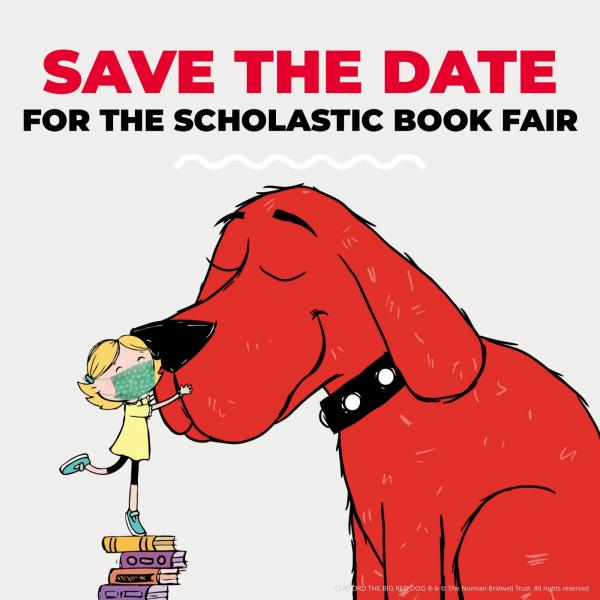 Clifford the Big Red Dog with girl