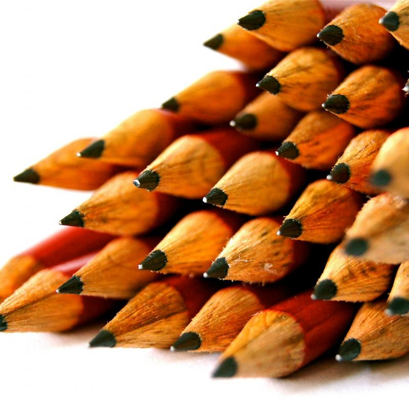 many sharpened pencils